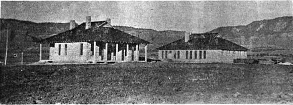The old Government school near Lukachukai.