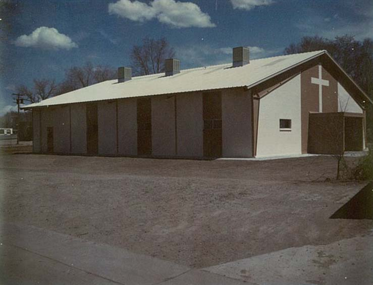 The parish hall, shortly after being built.