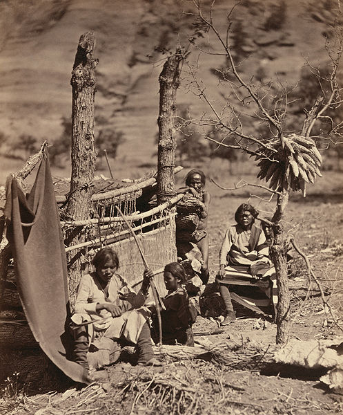 A Navajo Family near Fort Defiance, 1873.