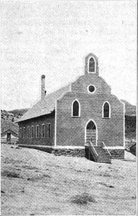 Early photo of St. Mary's in Tohatchi.