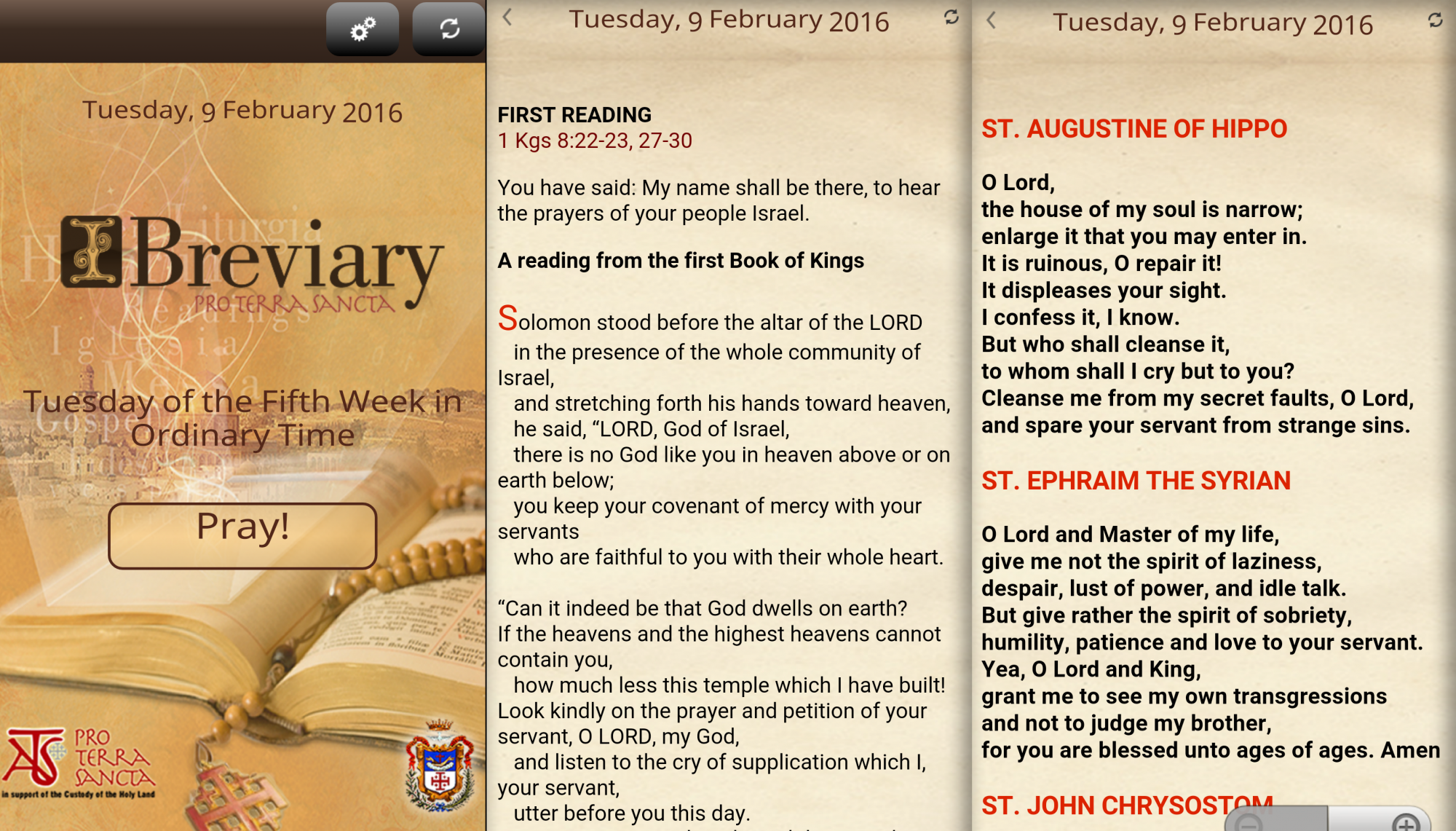 Ibreviary Prayer List App Iphone