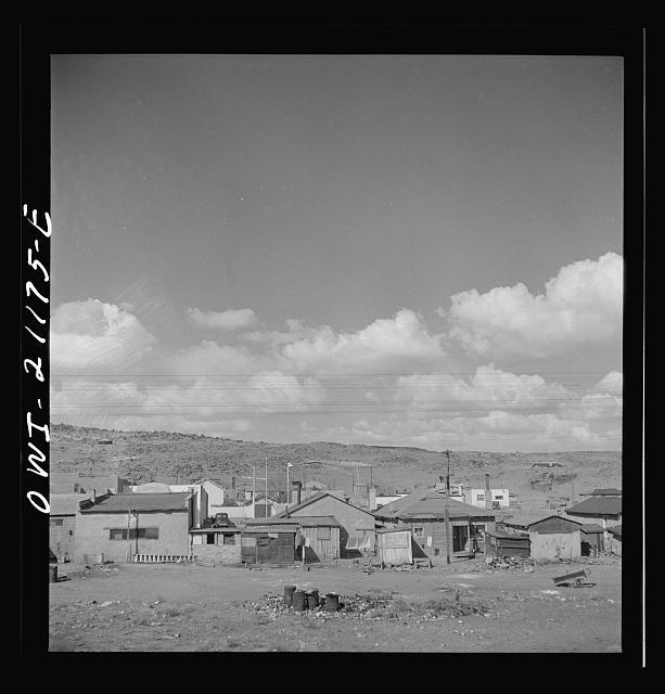 Old mining shacks near Grants, NM.