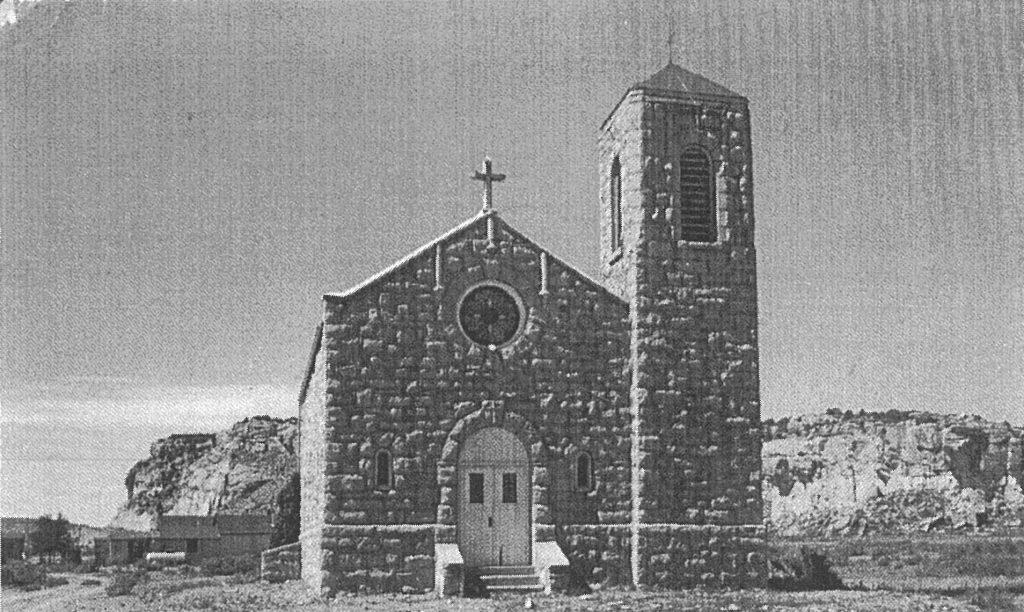 Mission church in Manuelito, NM.