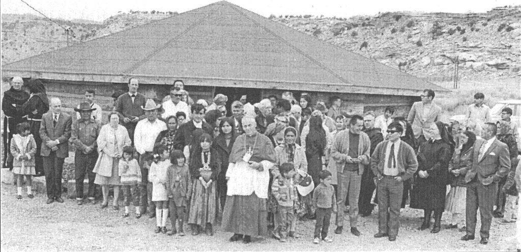 Dedication day at the Manuelito hogan church in 1969.