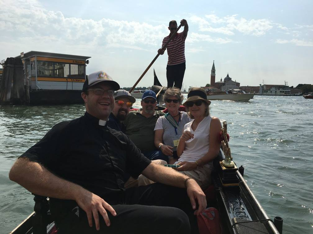 Riding the gondolas in Venice, Italy.